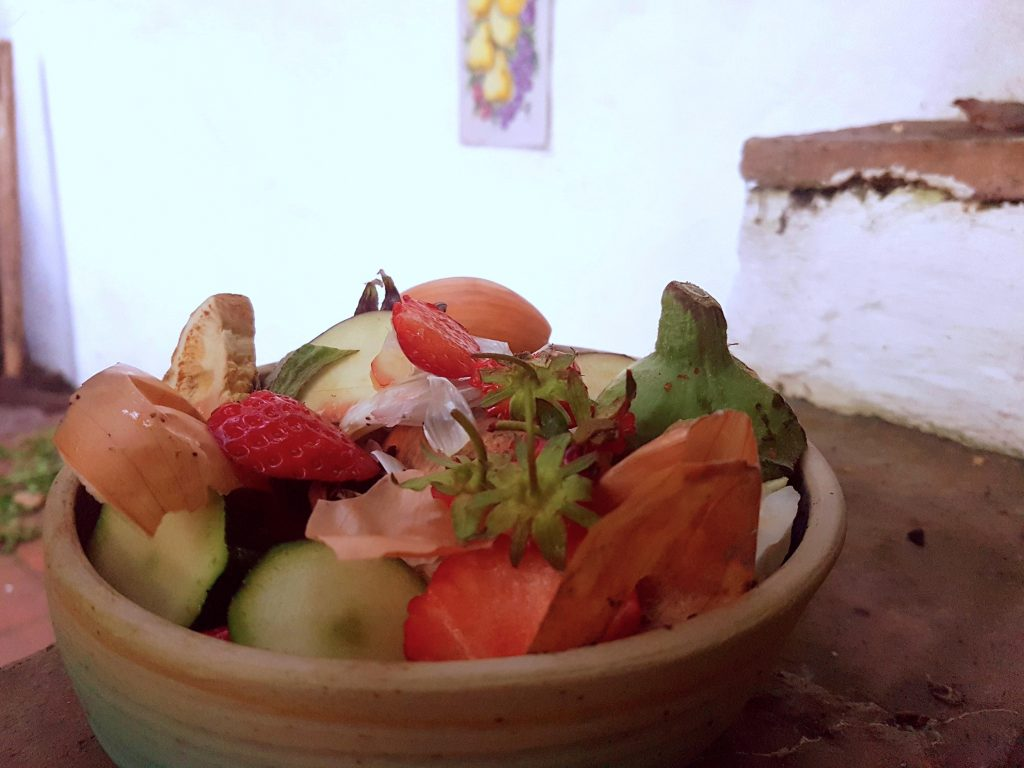 A picture of kitchen waste